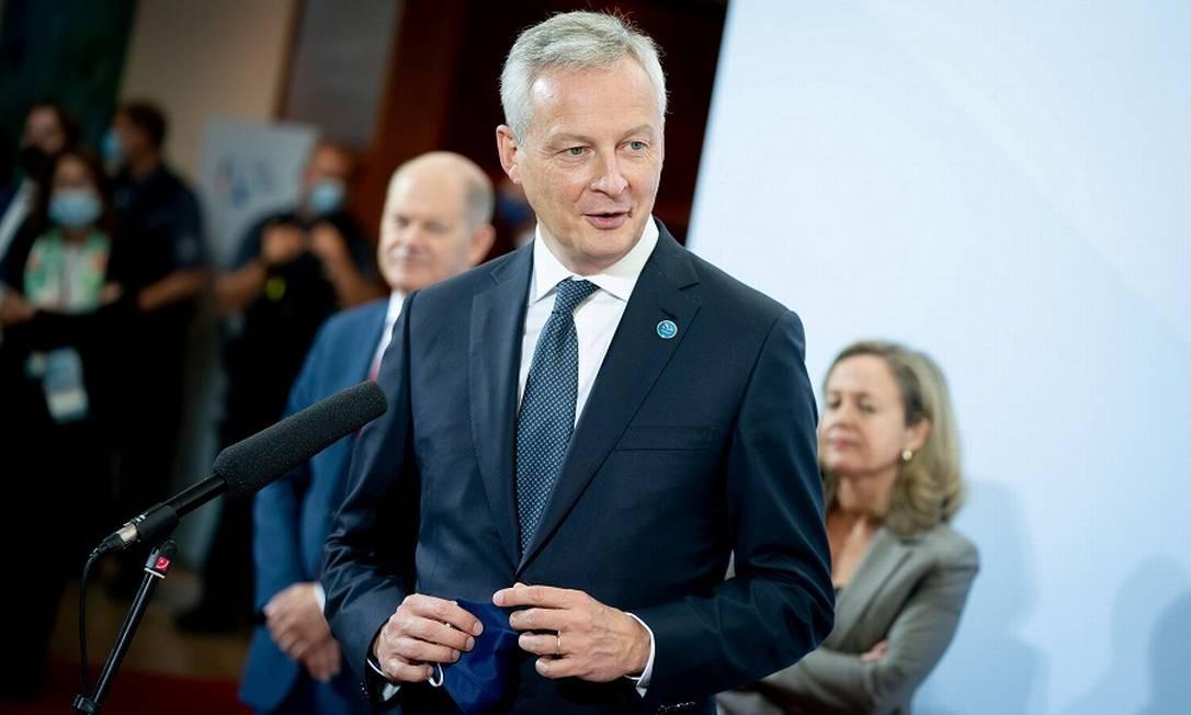 Bruno Le Maire, ministro francês das Finanças: imposto digital europeu deve começar logo em 2021. Foto: POOL / via Reuters