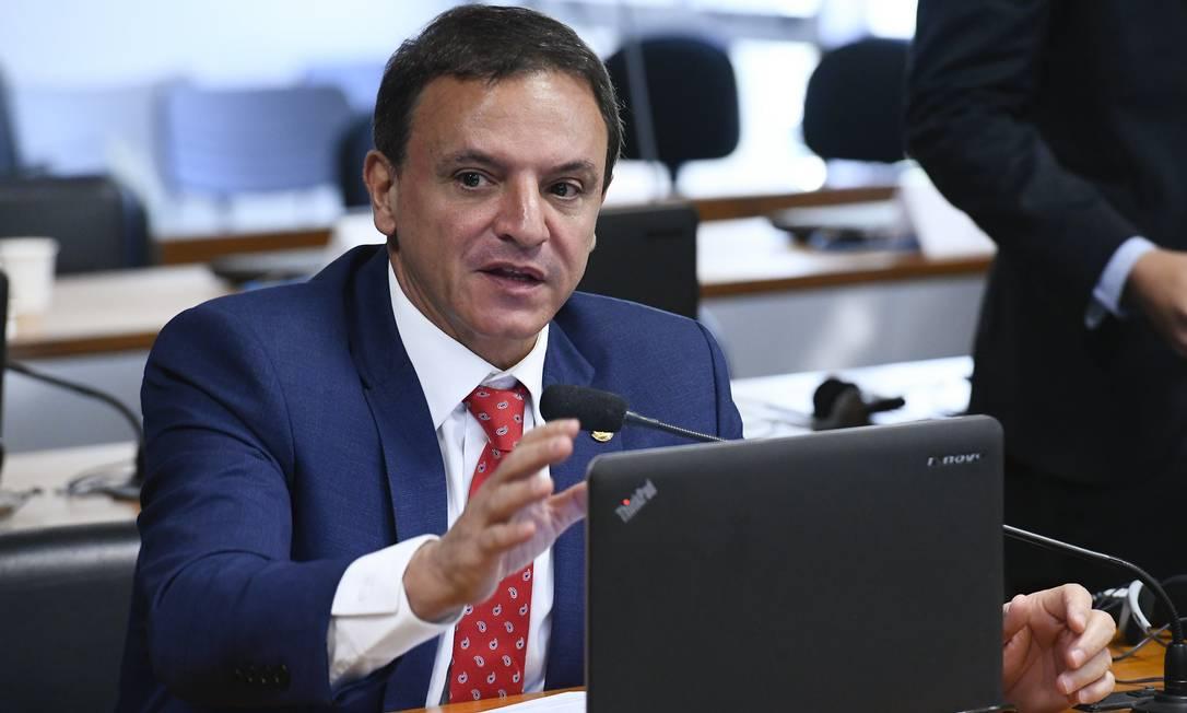 O senador Marcio Bittar (MDB-AC), relator da proposta de emenda à Constituição que cria o Renda Cidadã, novo programa social de Bolsonaro Foto: Geraldo Magela / Geraldo Magela/Agência Senado