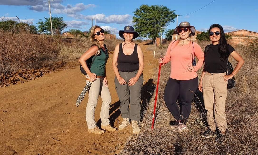 'As Meteoríticas': Amanda Tosi, Maria Elisabeth Zucolotto, Diana Andrade e Sara Nunes Foto: Arquivo pessoal