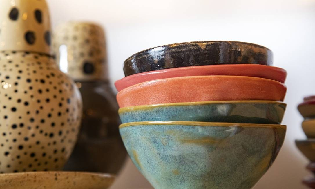 A cerâmica exclusiva de Lu Monteiro Foto: Ana Branco / Agência O Globo
