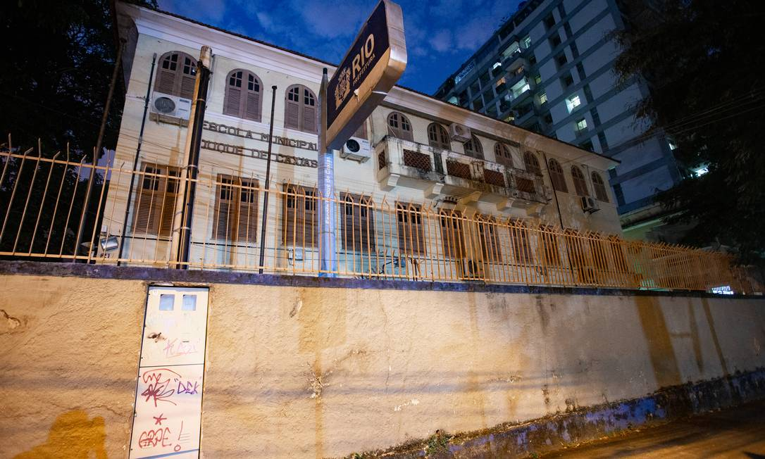 Escola municipal do Rio fechada por conta da pandemia Foto: Roberto Moreyra / Agência O Globo