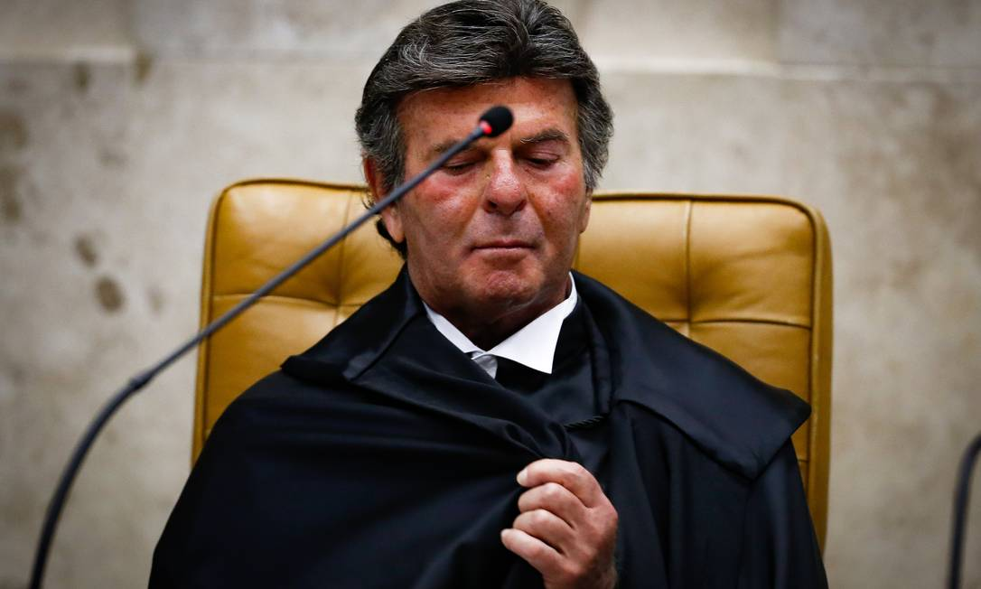 Posse do Ministro Luiz Fux como novo presidente de STF Foto: Pablo Jacob/10-9-2020 / Agência O Globo