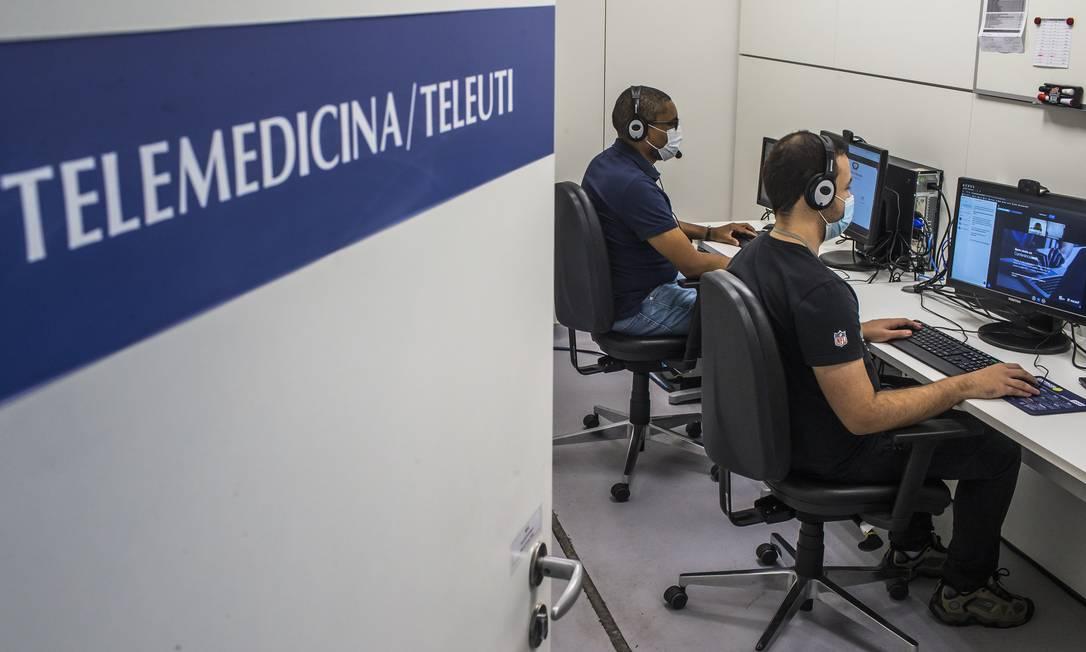 SO São Paulo ( SP ) 26/06/2020 TELEMEDICINA - Sala de TeleUti do hospital Incor . Foto: Edilson Dantas / Agencia O Globo Foto: Edilson Dantas / Agência O Globo