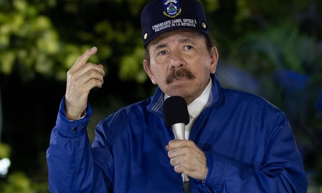 Presidente da Nicarágua Daniel Ortega Foto: Presidência da Nicarágua/ Cesar Perez / via REUTERS