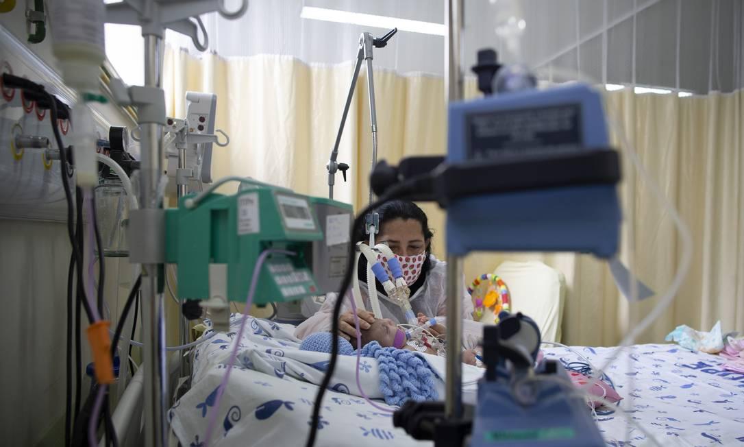 UTI infantil de Covid-19 do Hospital Universitário Pedro Ernesto Foto: Márcia Foletto / Agência O Globo