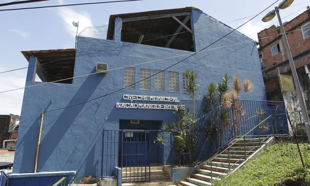 Creche municipal Nação Mangueirense, na Mangueira Foto: Gabriel de Paiva / Agência O Globo