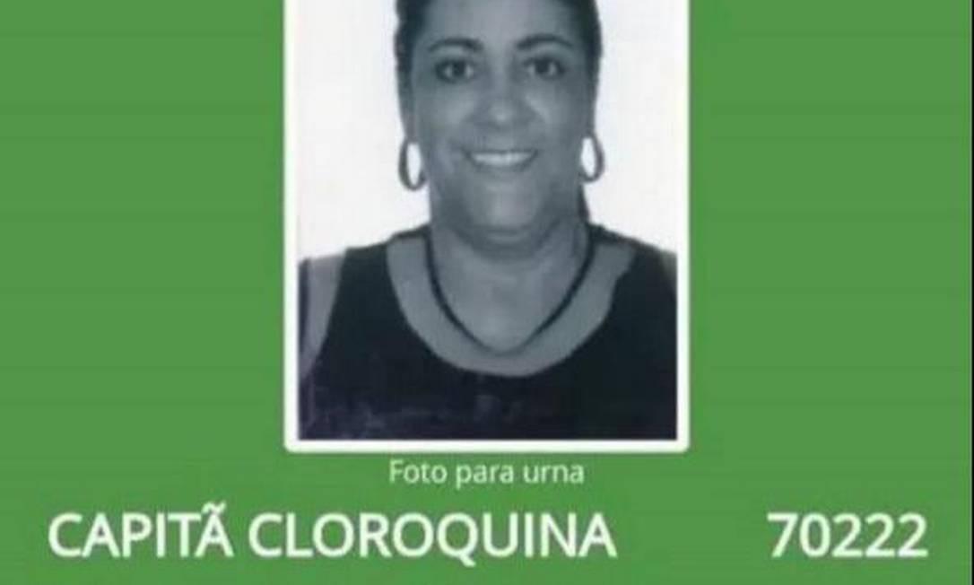 Capitã Cloroquina, candidata a vereadora no Rio de Janeiro Foto: Reprodução