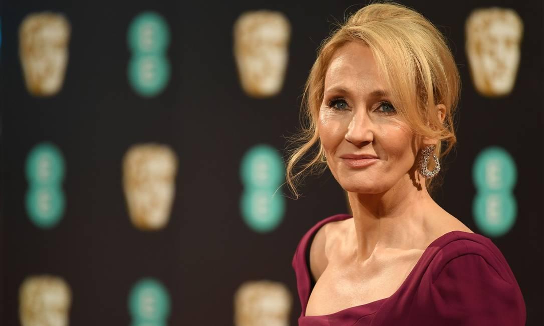 A escritora britânica J. K. Rowling tem se envolvido em polêmicas com a comunidade LGBTQI+ Foto: JUSTIN TALLIS / AFP