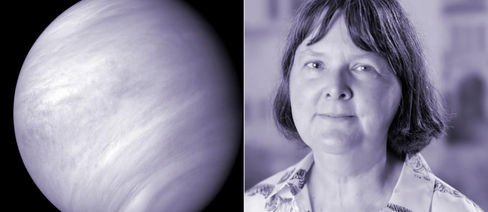 A astrônoma Jane Greaves, que liderou pesquisa que detectou a presença de fosfina na atmosfera de Vênus, também luta para que a ciência seja um lugar mais justo para as mulheres Foto: Reprodução