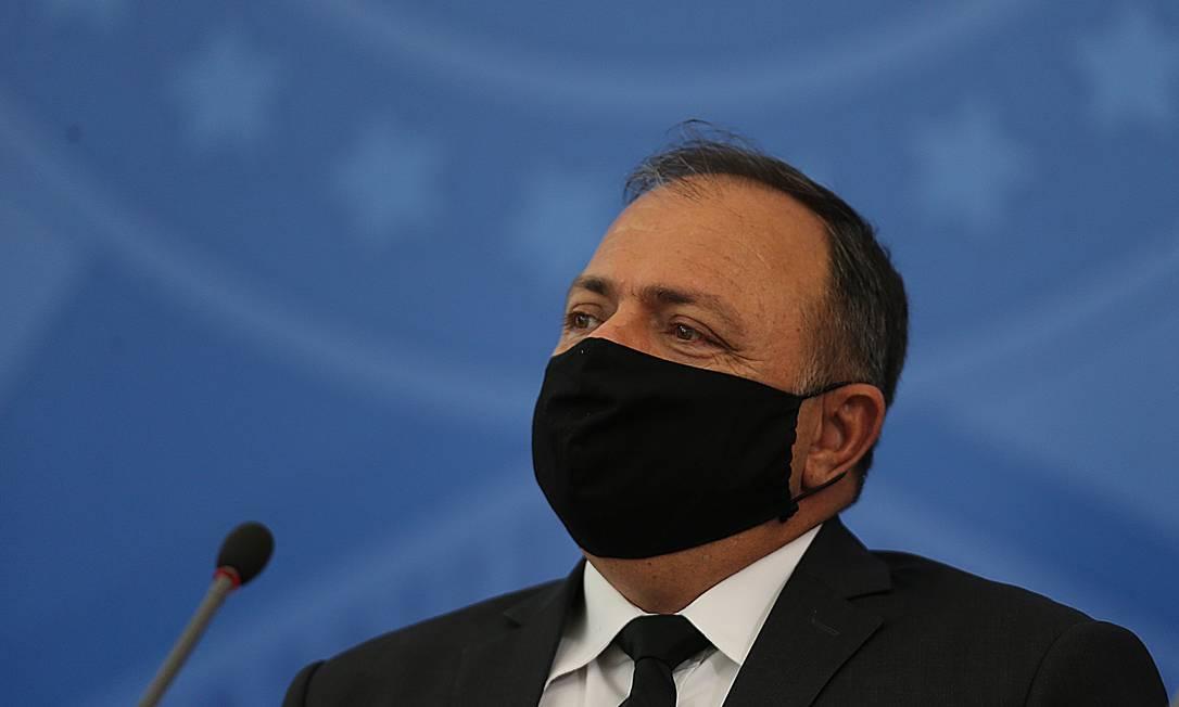 O ministro interino da Saúde, Eduardo Pazuello Foto: Jorge William / Agência O Globo