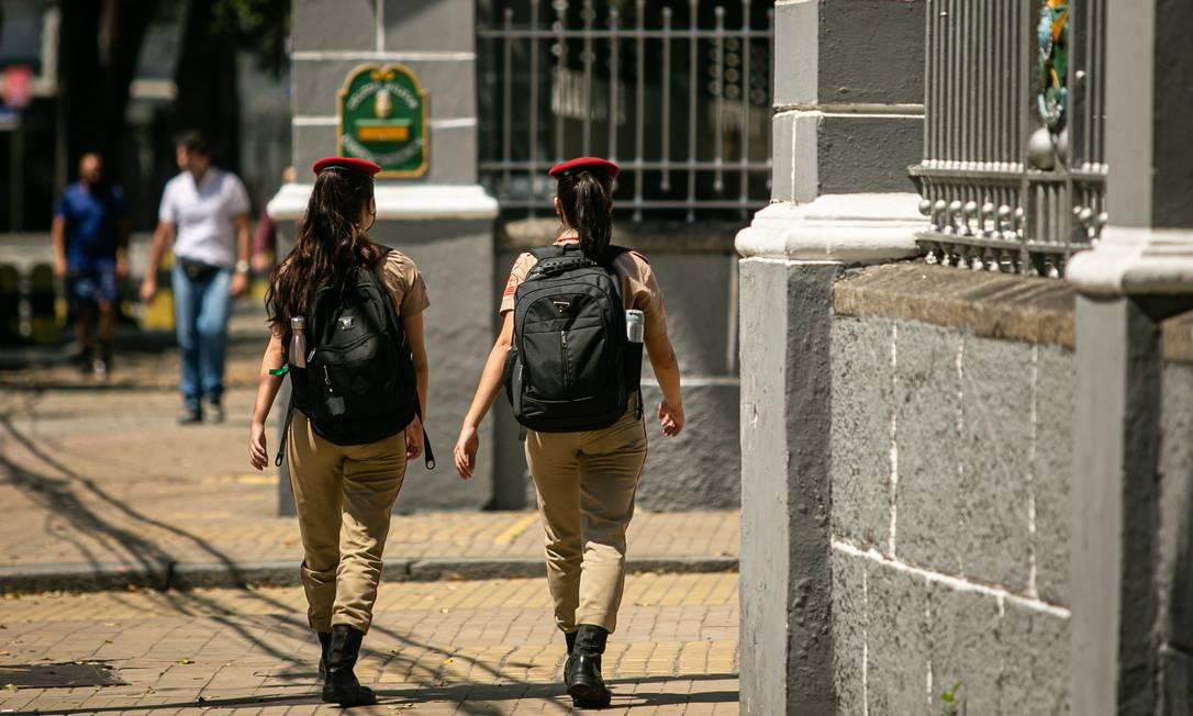 Alunos no Colégio Militar do Rio de Janeiro Foto: Hermes de Paula / Agência O Globo