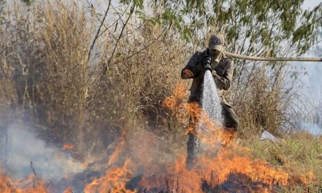 Incêndios na região do Pantanal cresceram 210% em 2020, em comparação com o mesmo período do ano passado Foto: EPA