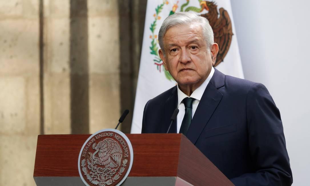 O presidente do México, Andrés Manuel López Obrador Foto: HENRY ROMERO / REUTERS