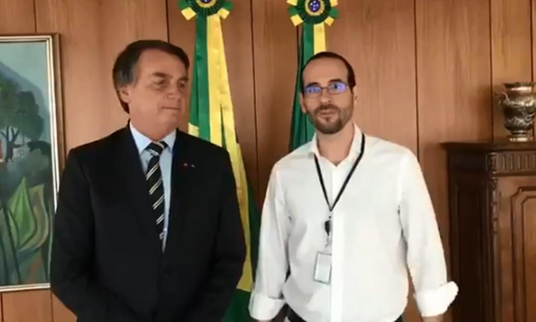 Arthur Weintraub e o presidente Jair Bolsonaro Foto: Reprodução/ Twitter