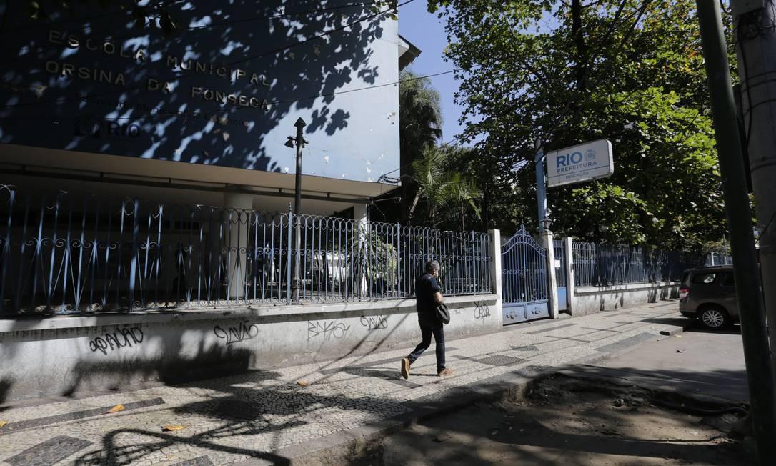 Escola Municipal Cristina da Fonseca, na Tijuca: funcionamento apenas do administrativo - Arquivo 10-08-2020 Foto: Márcia Foletto / Marcia Foletto