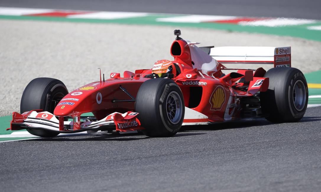 A Kaspersky é uma das patrocinadoras da Ferrari na Fórmula 1 Foto: LUCA BRUNO / Pool via REUTERS