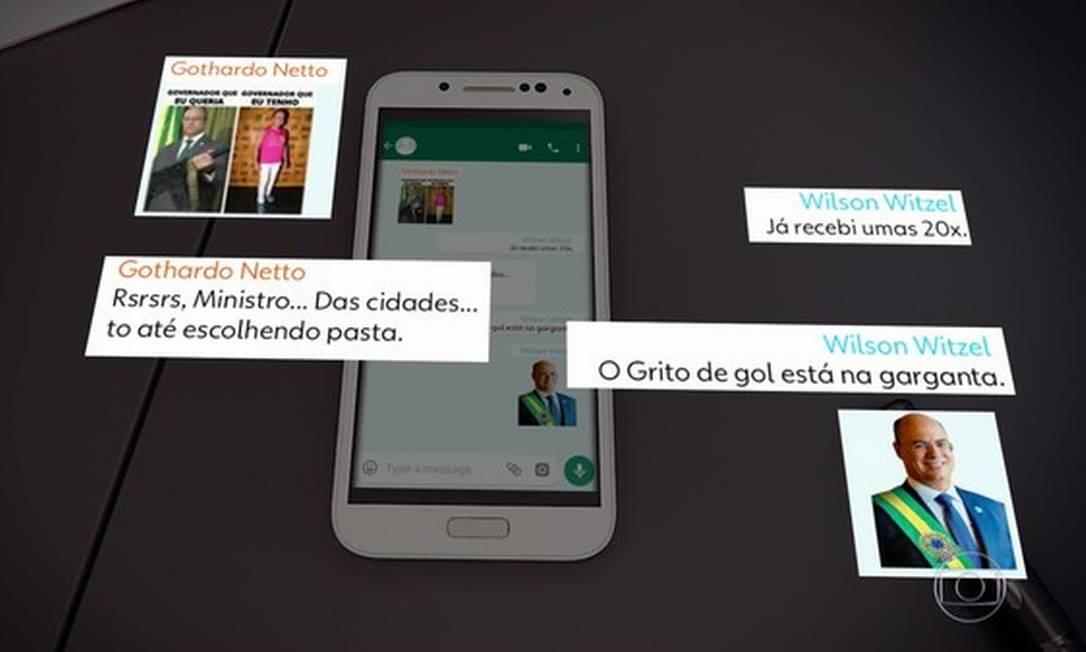 Com pretensão de ser candidato em 2022, Witzel costumava a compartilhar sua figurinha usando a faixa presidencial Foto: Reprodução TV Globo