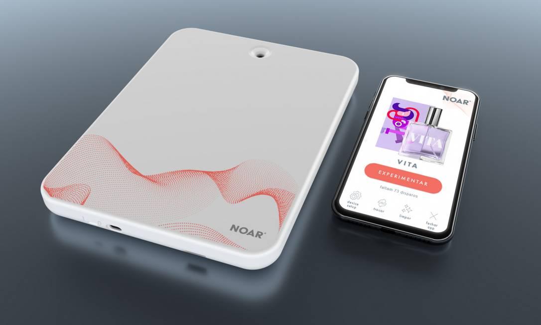 O novo tablet da Natura vai liberar fragrâncias