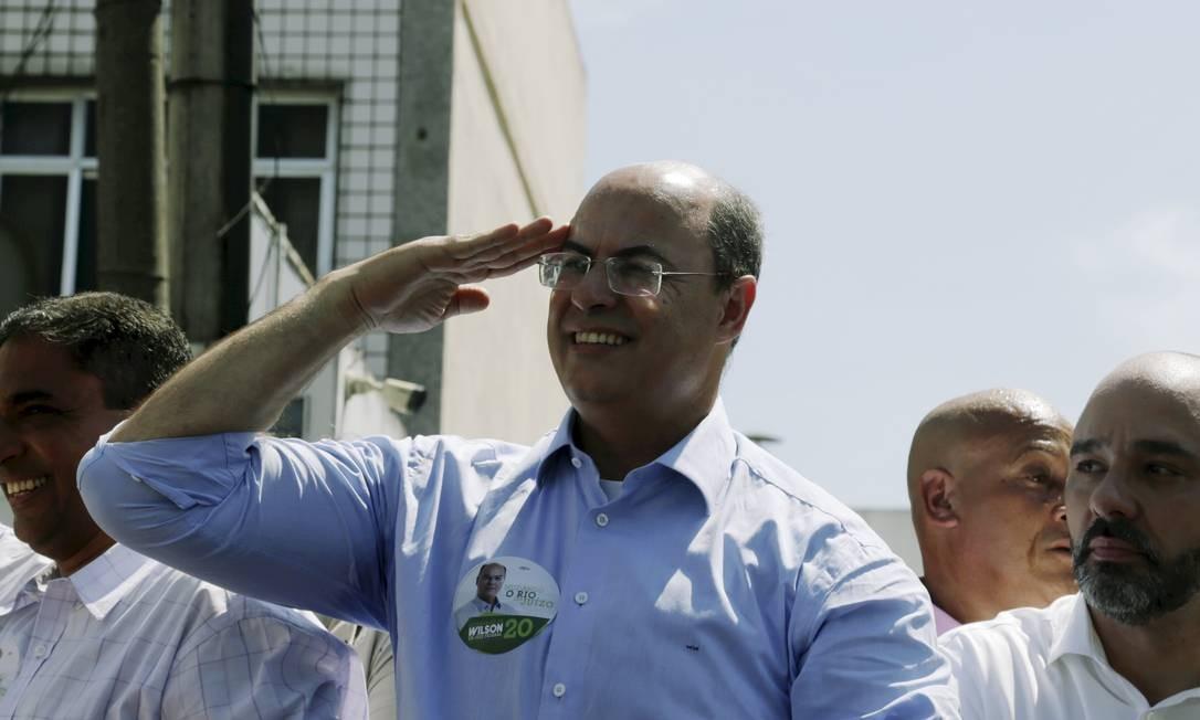 Witzel, durante um de seus compromissos de campanha em 2018, antes das eleições Foto: Gabriel de Paiva em 10-10-2018 / Agência O Globo