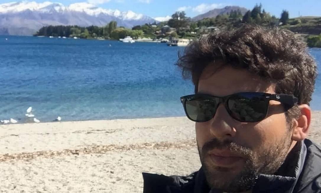 Nas redes, o capitão da PM André Porciuncula se mostra fã de Olavo de Carvalho e contrário ao isolamento social Foto: Reprodução / Facebook