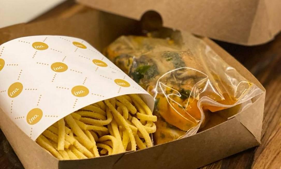 Ino. envia massas frescas, produtos do Eataly Foto: Divulgação