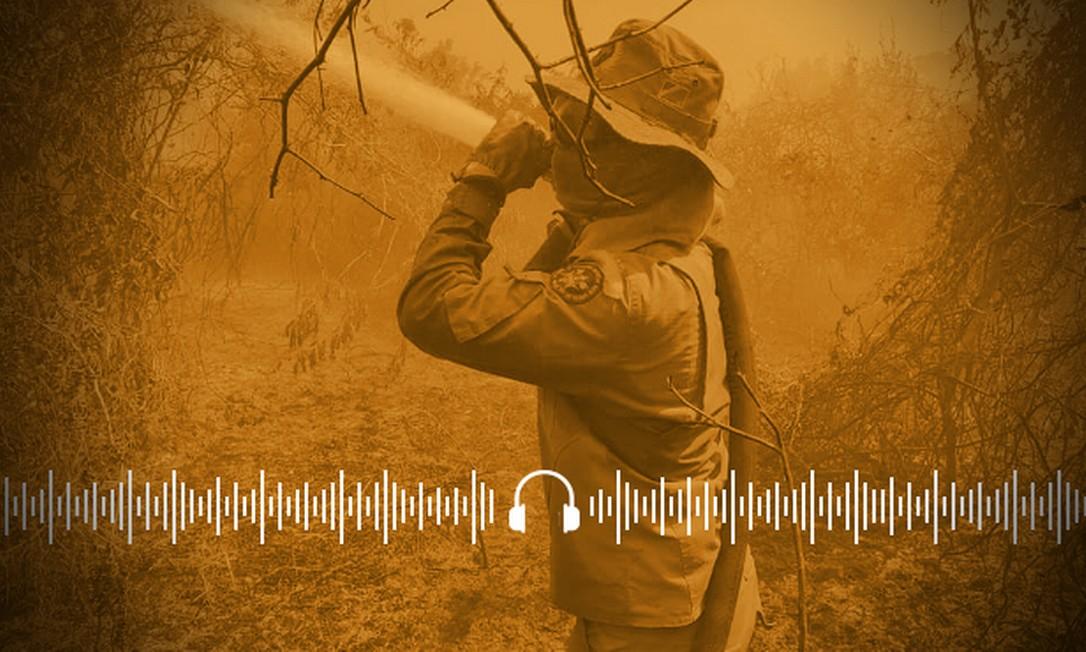 Bombeiros tentam combater incêndios, que já destruíram quase 3 milhões de hectares no Pantanal Foto: Arte