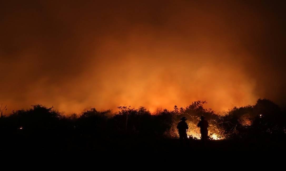 Incêndios no Pantanal já queimaram área equivalente a quatro cidades do Rio Foto: Amanda Perobelli/Reuters