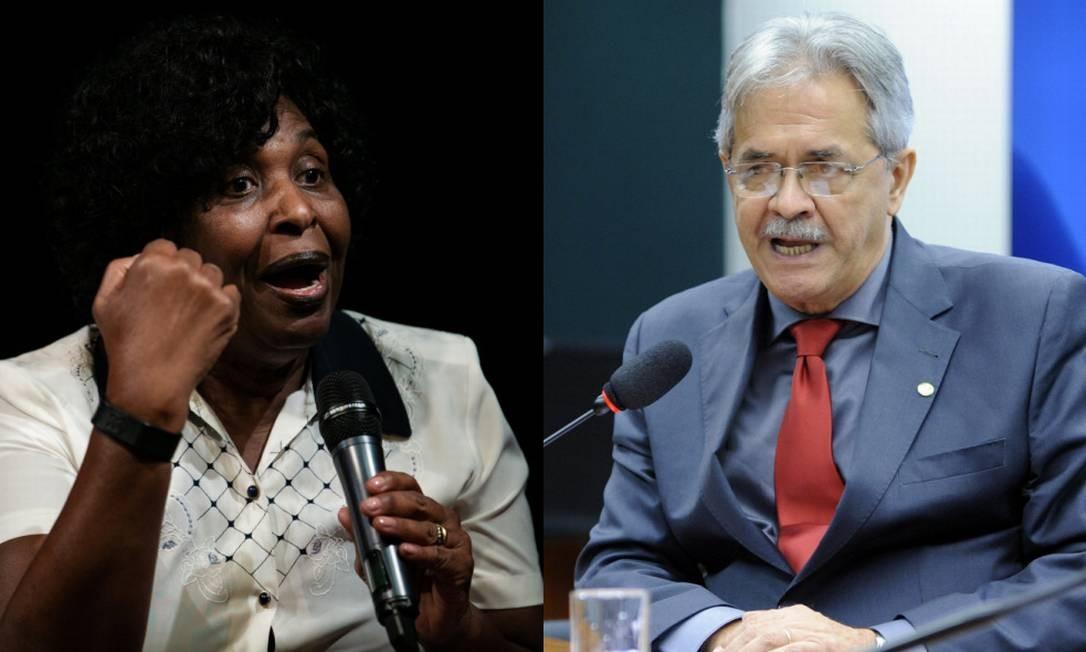 Ex-ministros Benedita da Silva (PT-RJ) e Nilmário Miranda (PT-MG) Foto: Roberto Moreyra/Agência O Globo e Alex Ferreira/Câmara dos Deputados
