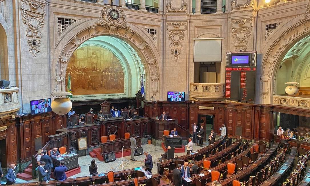 Comissão especial do impeachment da Assembleia Legislativa do Rio (Alerj) vota nesta quinta-feira o parecer sobre a denúncia contra o governador afastado Wilson Witzel Foto: Thiago Lontra / Alerj