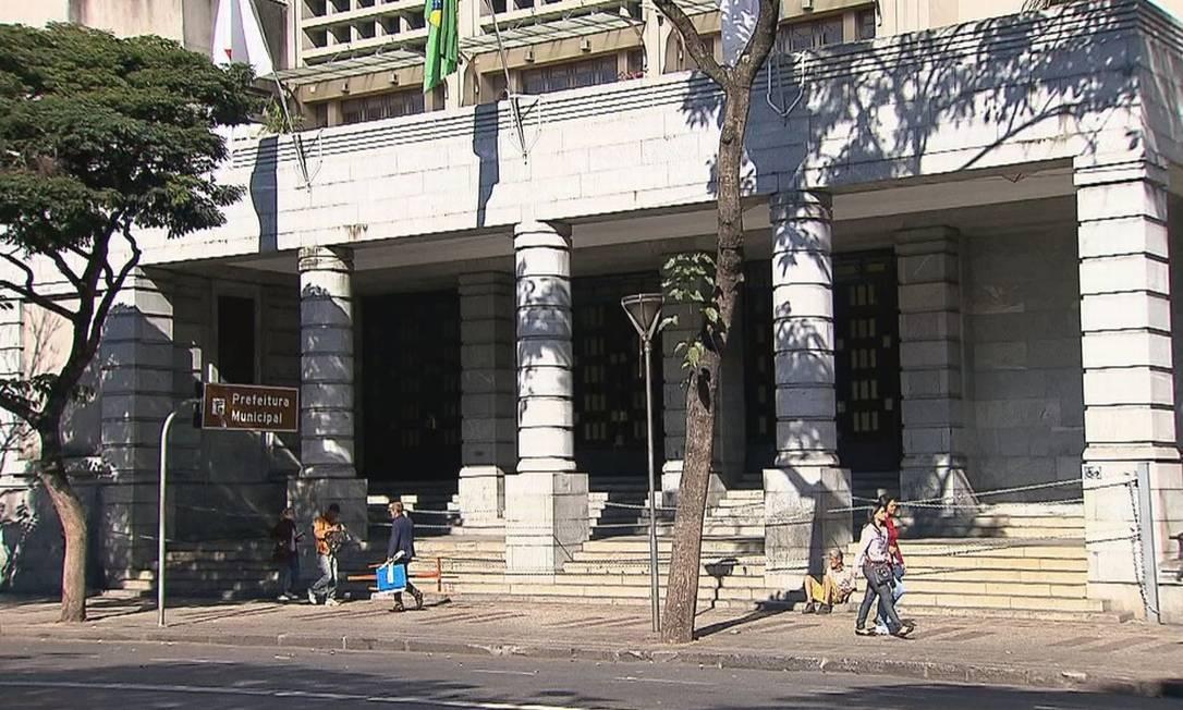 Sede da Prefeitura de Belo Horizonte Foto: Reprodução TV