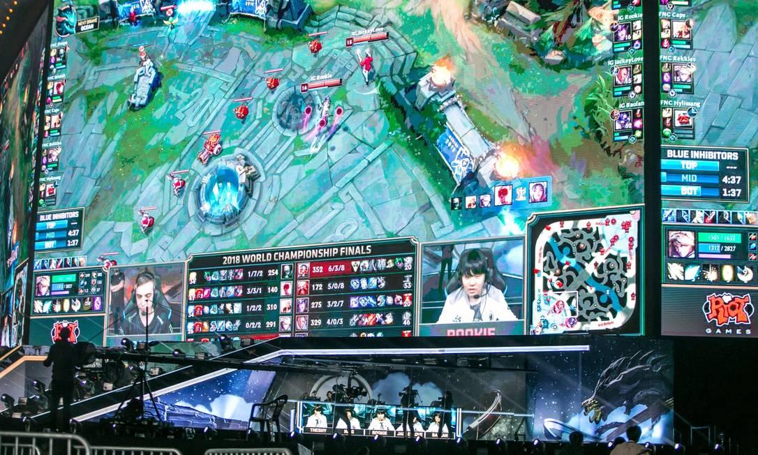 A Riot Games, criadora de League of Legends, pertence ao conglomerado chinês Tencent Holdings Foto: Jean Chung / Bloomberg