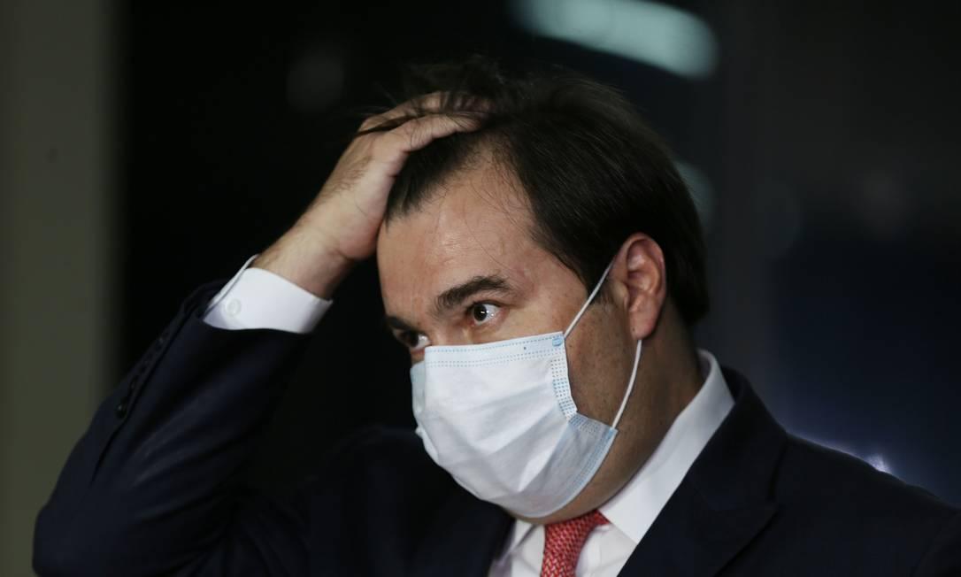 O presidente da Câmara, Rodrigo Maia Foto: Jorge William / Agência O Globo