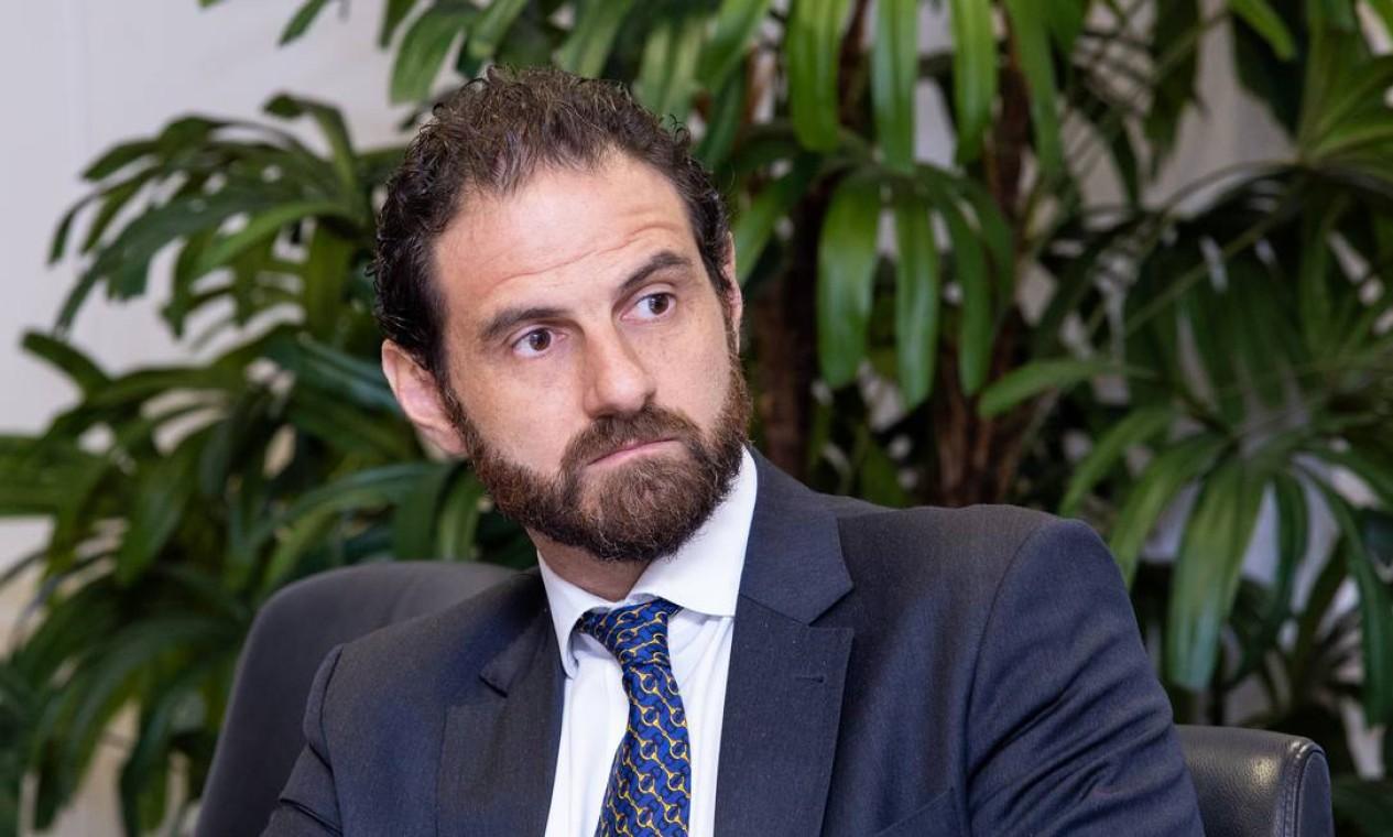 Caio Megale deixou o cargo de diretor na Secretaria Especial de Fazenda em julho de 2020. Recentemente foi anunciado como novo economista-chefe da XP Investimentos Foto: Washington Costa / SEPEC/ME/15/01/2019