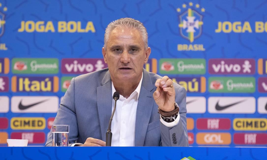 Tite, técnico da seleção brasileira Foto: Lucas Figueiredo/CBF / Lucas Figueiredo/CBF