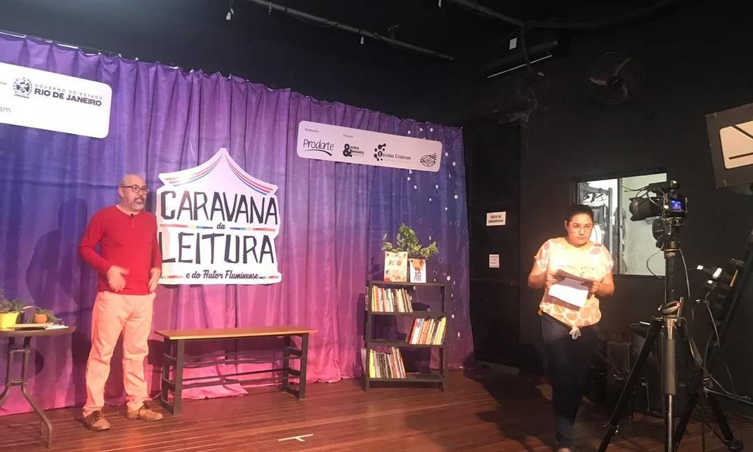 Lançamento. Raimundo Moreira na live que abriu a Caravana de Leitura: projeto é destinado a crianças, adolescentes e educadores de escolas públicas