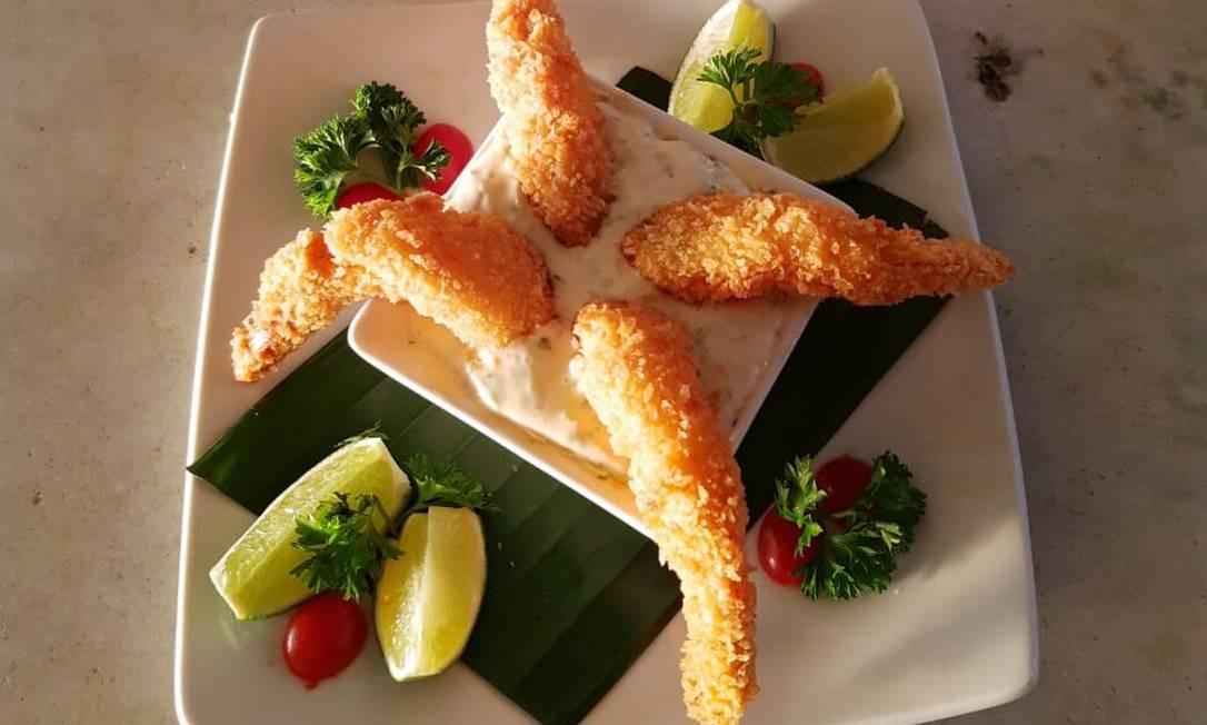O camarão empanado é um dos pratos em promoção no Point de Grumari Foto: Divulgação
