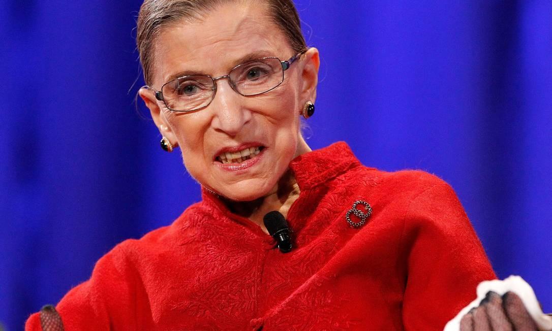 Juíza da Suprema Corte dos EUA, Ruth Bader Ginsburg, durante conferência em 2010 Foto: Mario Anzuonienfre / REUTERS