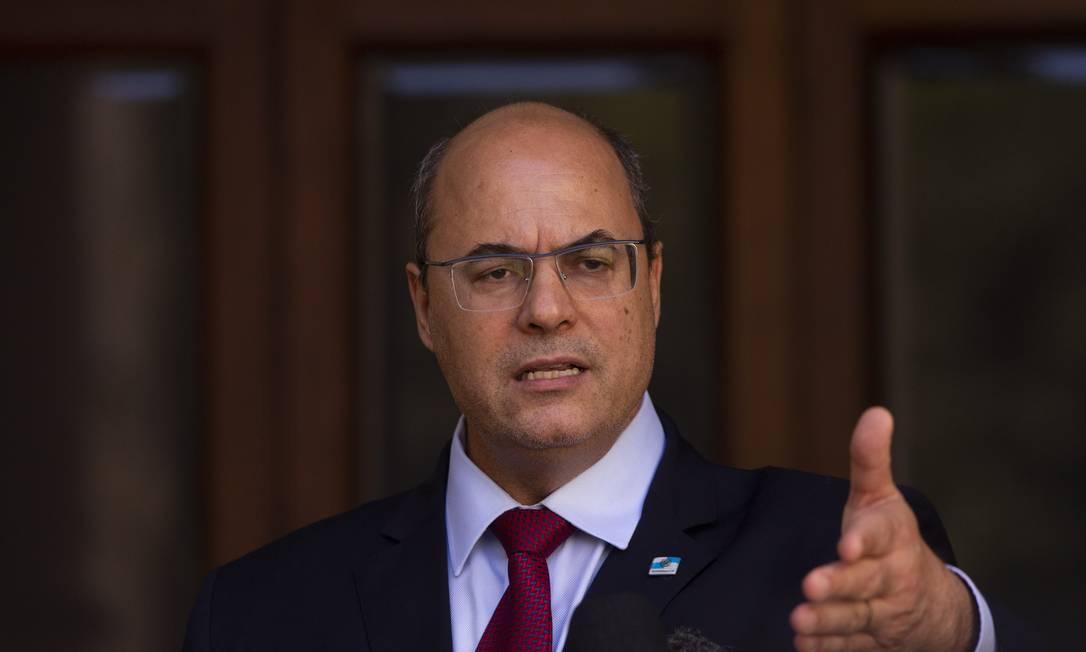 Afastado, Witzel vai à sessão de seu impeachment, mas presença não deve mudar tendência de votos Foto: Gabriel Monteiro / Agência O Globo