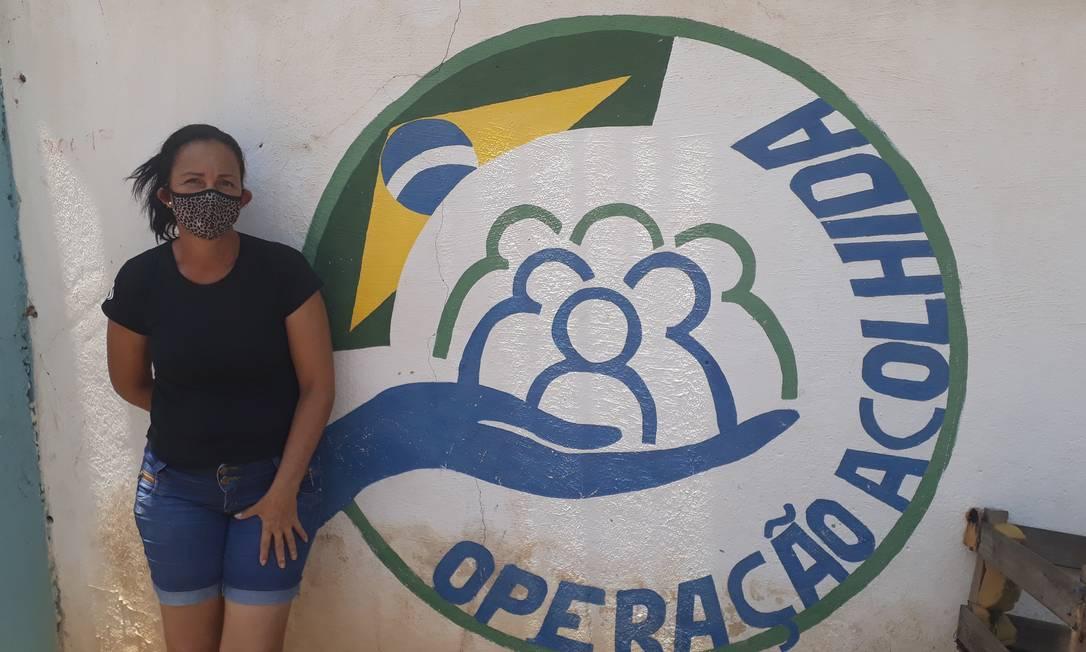 A venezuelana Eudelina Magos, que sonha em trazer mais gente da família quando a fronteira reabrir Foto: Marcelo Marques / Infoglobo