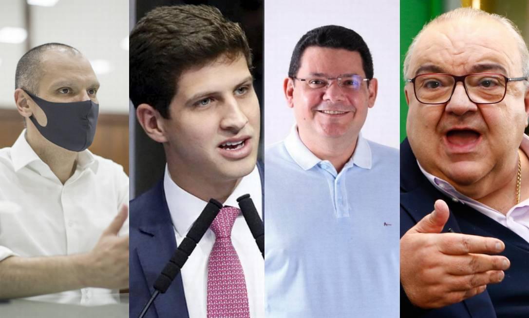 Bruno Covas, João Campos, Josiel Alcolumbre e Rafael Greca Foto: Divulgação