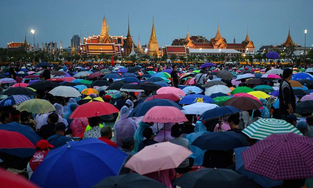 Capital da Tailândia é palco de mais um protesto contra o governo e a monarquia Foto: MLADEN ANTONOV / AFP/19-09-2020