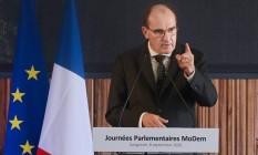 Jean Castex, primeiro-ministro francês, se posicionou contra concretização do acordo entre Mercosul e União Europeia Foto: Mehdi Fedouach / AFP