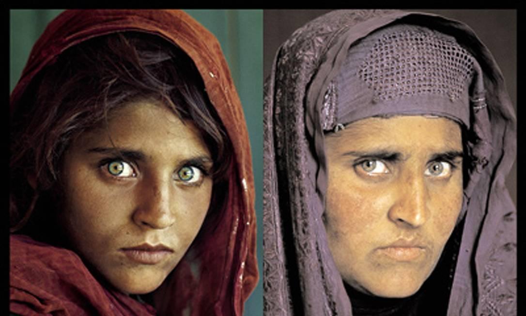 Coleção de fotografias conta com os retratos de mulher afegã feitos em 1984 e 2002 por Steve McCurry Foto: Reuters / Steve McCurry / National Geographic Society