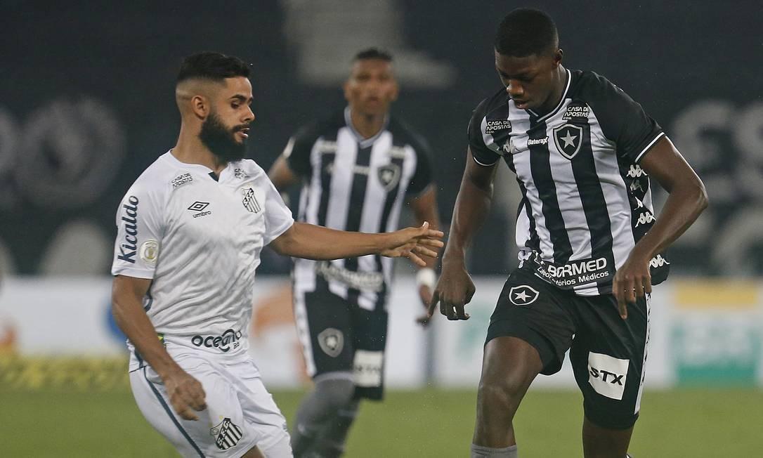 Botafogo empatou sem gols contra o Santos Foto: Vitor Silva/Botafogo