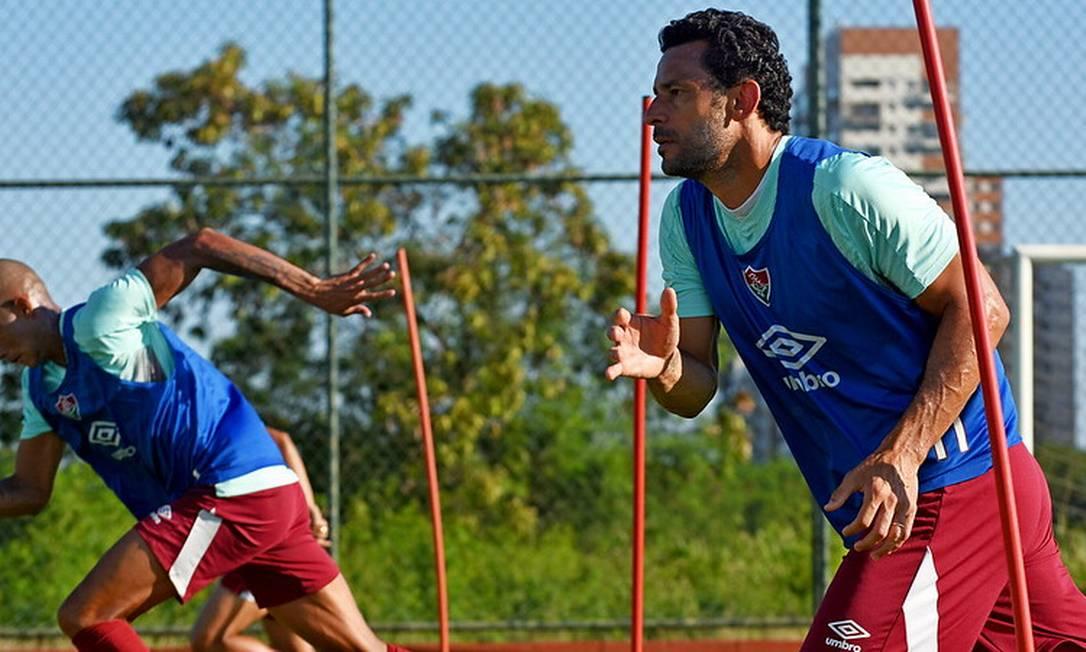 Fred concluiu a quarentena após ter contraído Covid-19 Foto: Mailson Santana/Fluminense FC