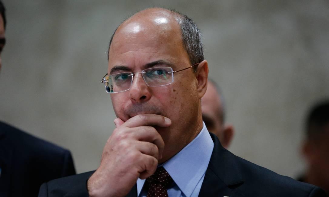 Governador afastado disse que não renunciará ao cargo, ao contrário do que foi ventilado por deputados Foto: Pablo Jacob em 1-11-2019 / Agência O Globo