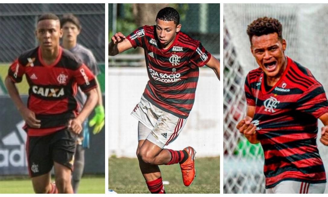 Trio do Flamengo que tenta viajar para Guayaquil Foto: Reprodução