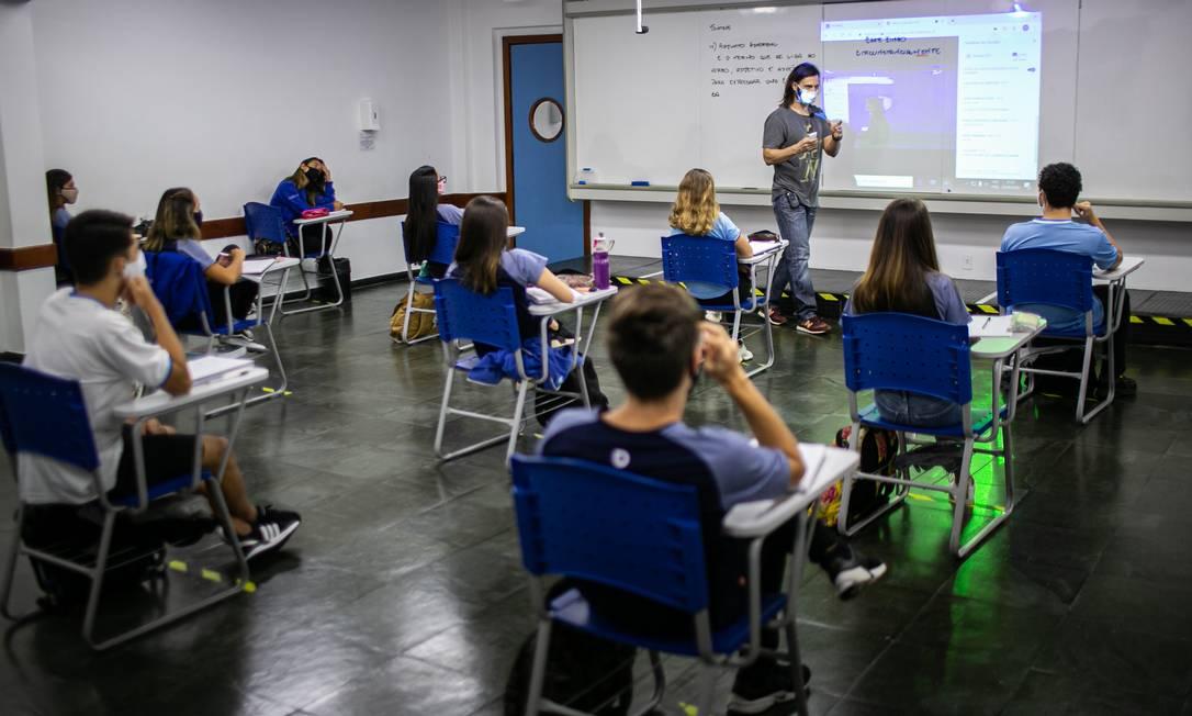 Colégio privado em Niterói Foto: Hermes de Paula