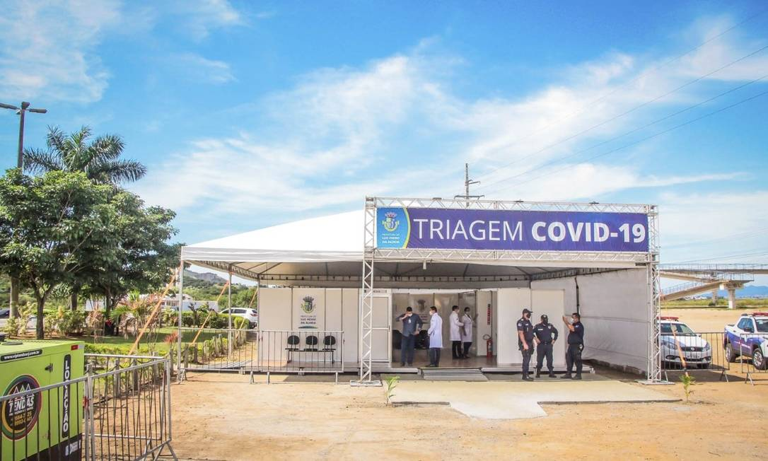 À espera de doentes: em São Pedro da Aldeia, a estrutura montada com verba devolvida pela Alerj Foto: Divulgação