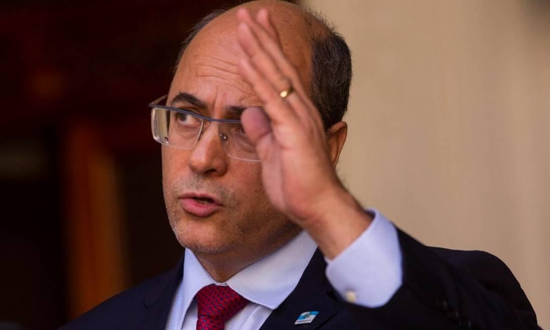 Wilson Witzel, governador afastado do Rio: votação decisiva na Alerj Foto: Agência o Globo